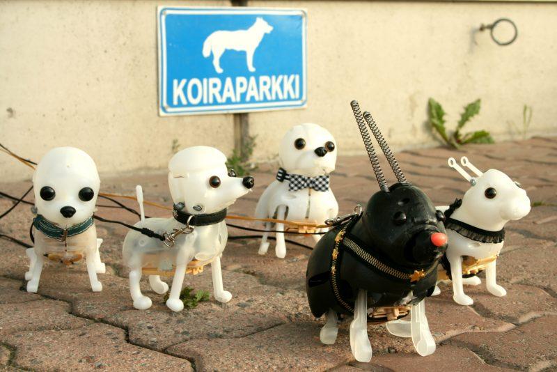palovin koirat-Koiraparkissa